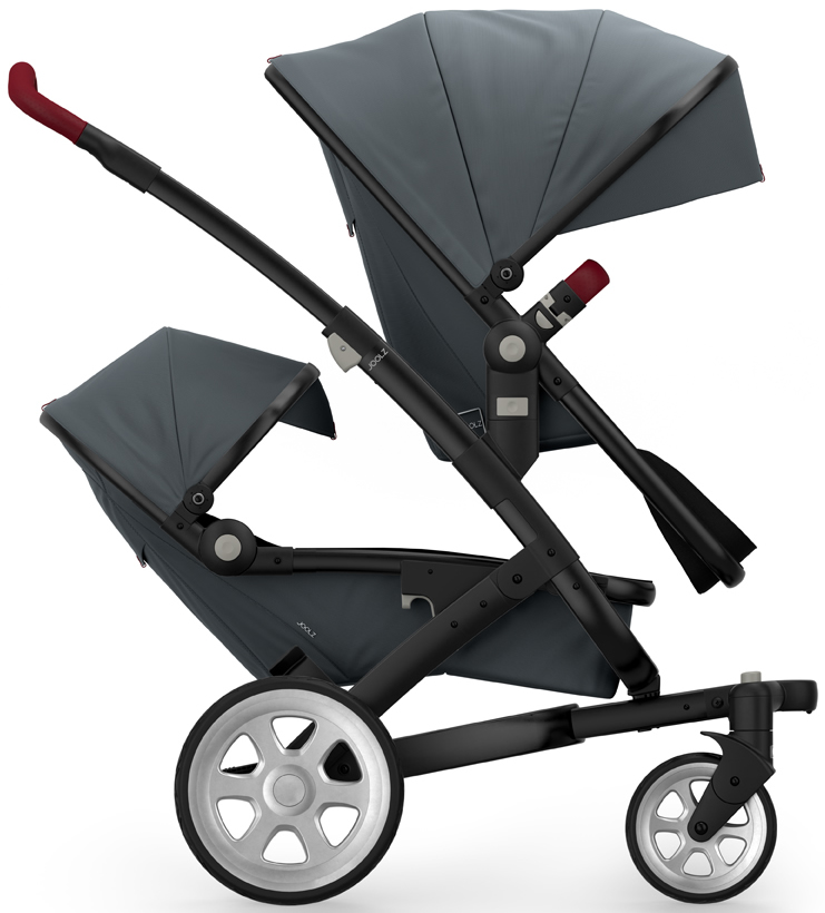 Joolz Geo 2 Tailor Twin Stroller - Black/Grey/Silver/Tang...