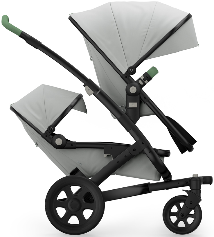 Joolz Geo 2 Tailor Twin Stroller - Black/Silver/Black/Mix...
