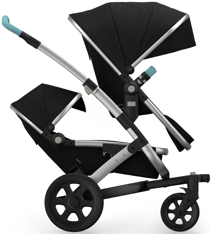 Joolz Geo 2 Tailor Twin Stroller - Silver/Black/Black/Ang...