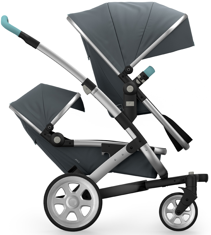 Joolz Geo 2 Tailor Twin Stroller - Silver/Grey/Silver/Ang...