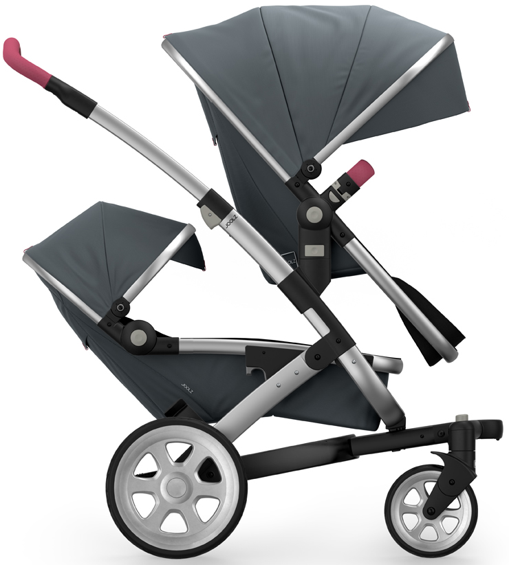 Joolz Geo 2 Tailor Twin Stroller - Silver/Grey/Silver/Pink