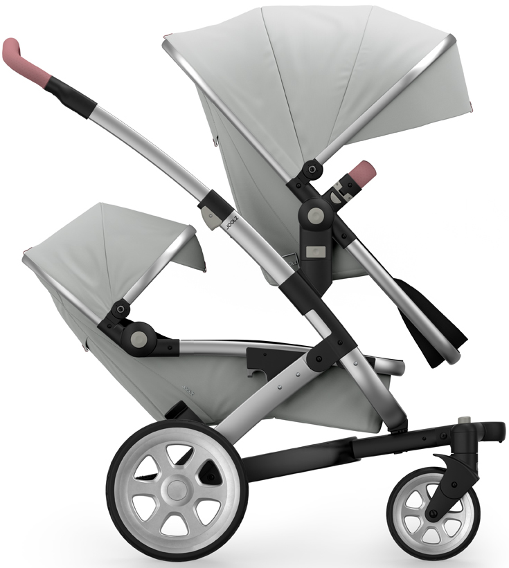 Joolz Geo 2 Tailor Twin Stroller - Silver/Silver/Silver/O...