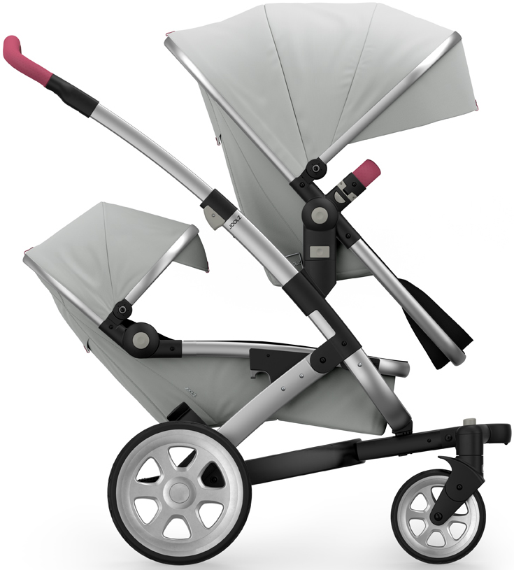 Joolz Geo 2 Tailor Twin Stroller - Silver/Silver/Silver/Pink