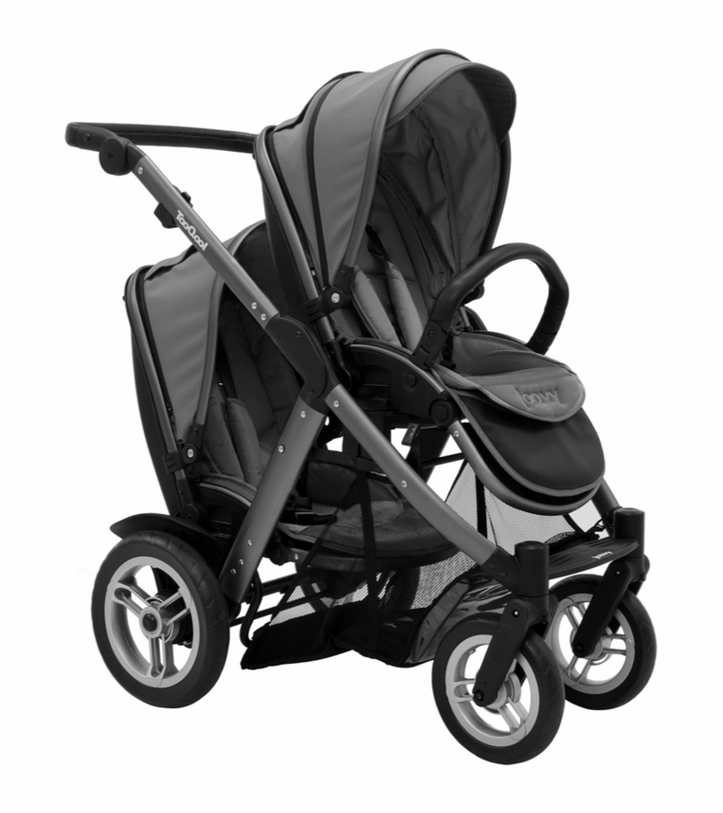Joovy Tooqool Double Stroller In Charcoal