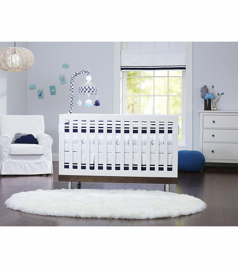 Just Born Fresh Air Crib Liner Navy