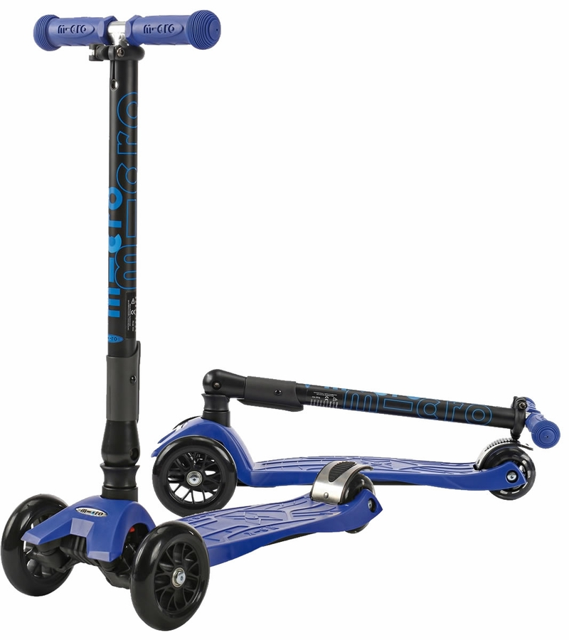 micro kickboard maxi scooter with foldable t bar blue. Black Bedroom Furniture Sets. Home Design Ideas