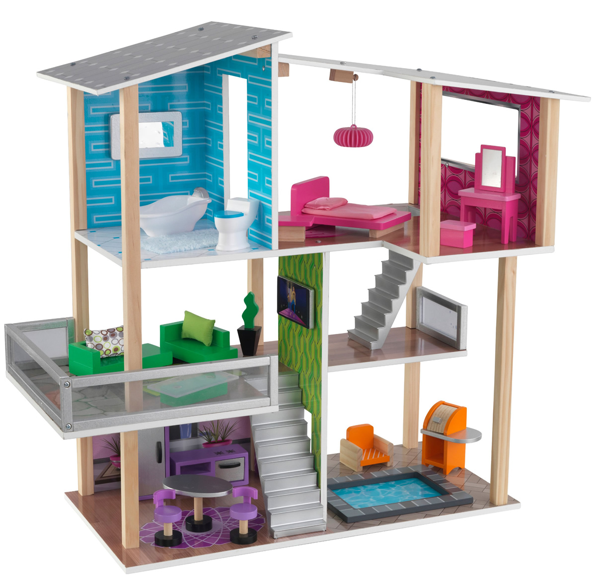Kid Kraft Modern Living Dollhouse