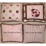 Kids Line Mod Ladybug Throw Pillows - Set of 2