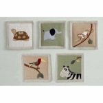 Kids Line Zanzibar Wall Hanging - Set of 5