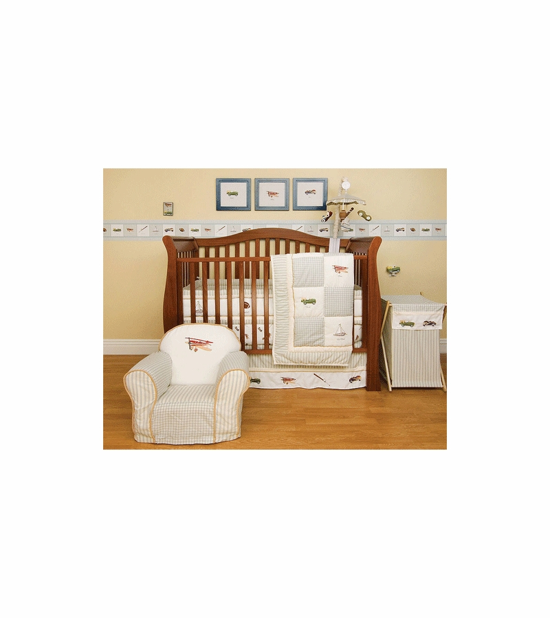 Kidsline Antique Toy 6 Piece Crib Bedding Set