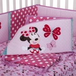 KidsLine Disney Minnie Mouse Crib Bumper