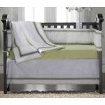KidsLine Hotel Green 8-Piece Crib Set