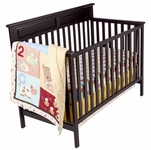 Kidsline Tiddliwinks ABC 123 3pc Baby Crib Bedding Set