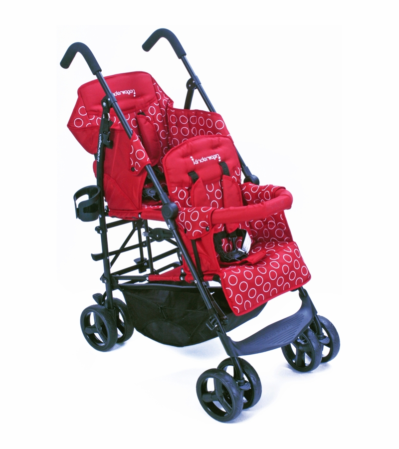 Costco Chairs For Sale Kinderwagon HOP Tandem Double Umbrella Stroller in Red