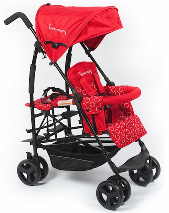 Kinderwagon Jump Sibling Stroller - Red