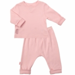 Kushies Baby 2 Piece Set in Pink- 6 Month