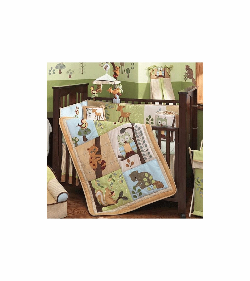 Lambs Ivy Enchanted Forest 5 Piece Baby Crib Bedding Set