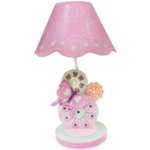 Lambs & Ivy Kaleidoscope Lamp with Shade & Bulb