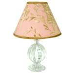 Lambs & Ivy Little Princess Lamp with Shade & Bulb