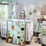 Lambs & Ivy Peek A Boo Jungle 5 Piece Crib Bedding Set