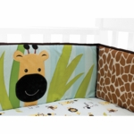 Lambs & Ivy Peek A Boo Jungle Crib Bumper