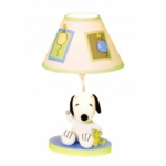 Lambs & Ivy Peek A Boo Snoopy Lamp with Shade