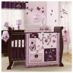 Lambs & Ivy Plumberry 5 Piece Crib Bedding Set