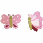Lambs & Ivy Raspberry Swirl Drawer Pulls - Set of 2