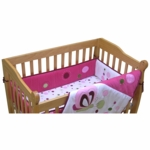 Lambs & Ivy Raspberry Swirl Mini Crib Bumper