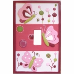 Lambs & Ivy Raspberry Swirl Switch Plate Cover