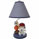 Lambs & Ivy Team Snoopy Lamp with Shade & Bulb