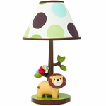Lambs & Ivy Treetop Buddies Lamp with Shade & Bulb