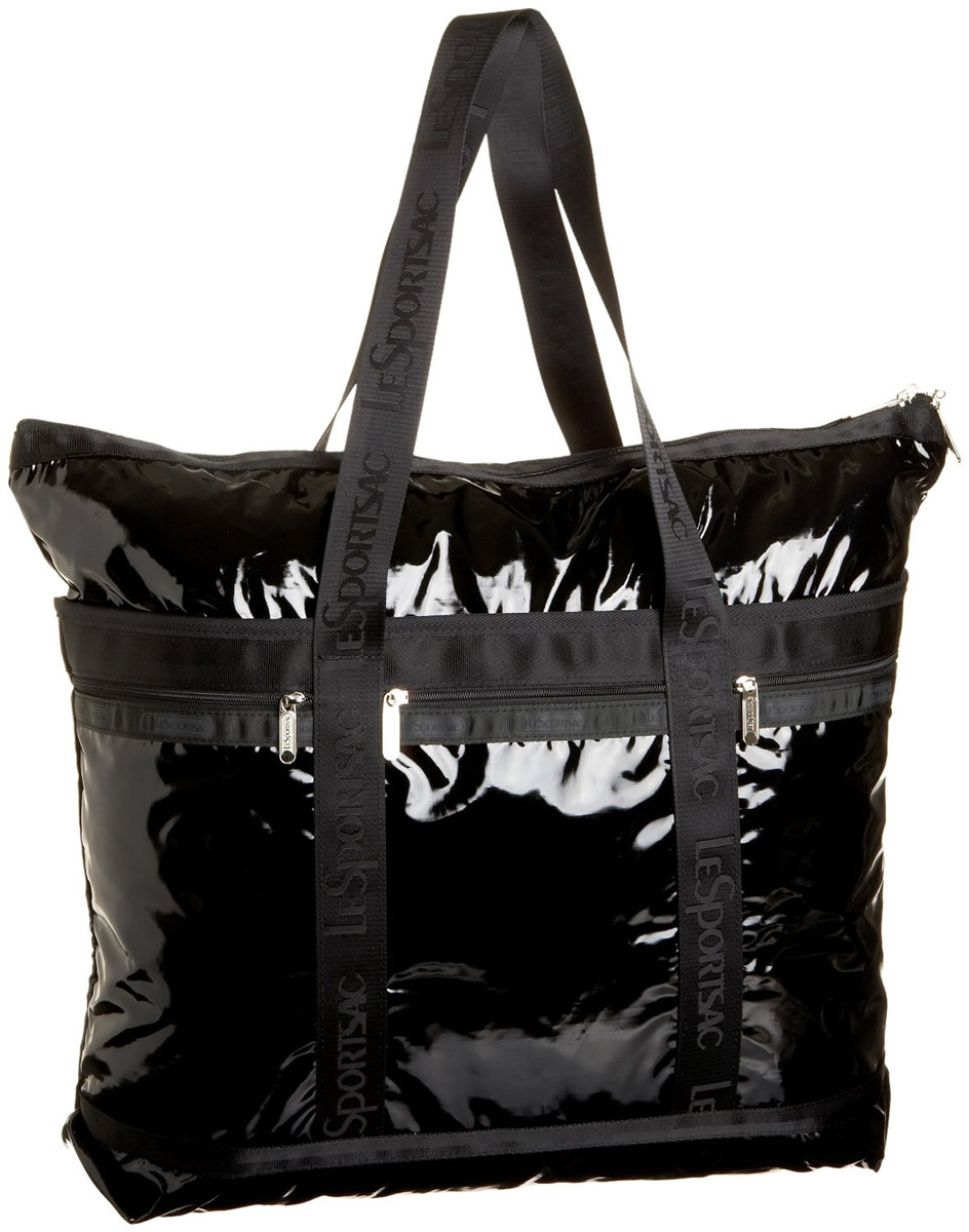 Lesportsac Travel Tote - Black Patent