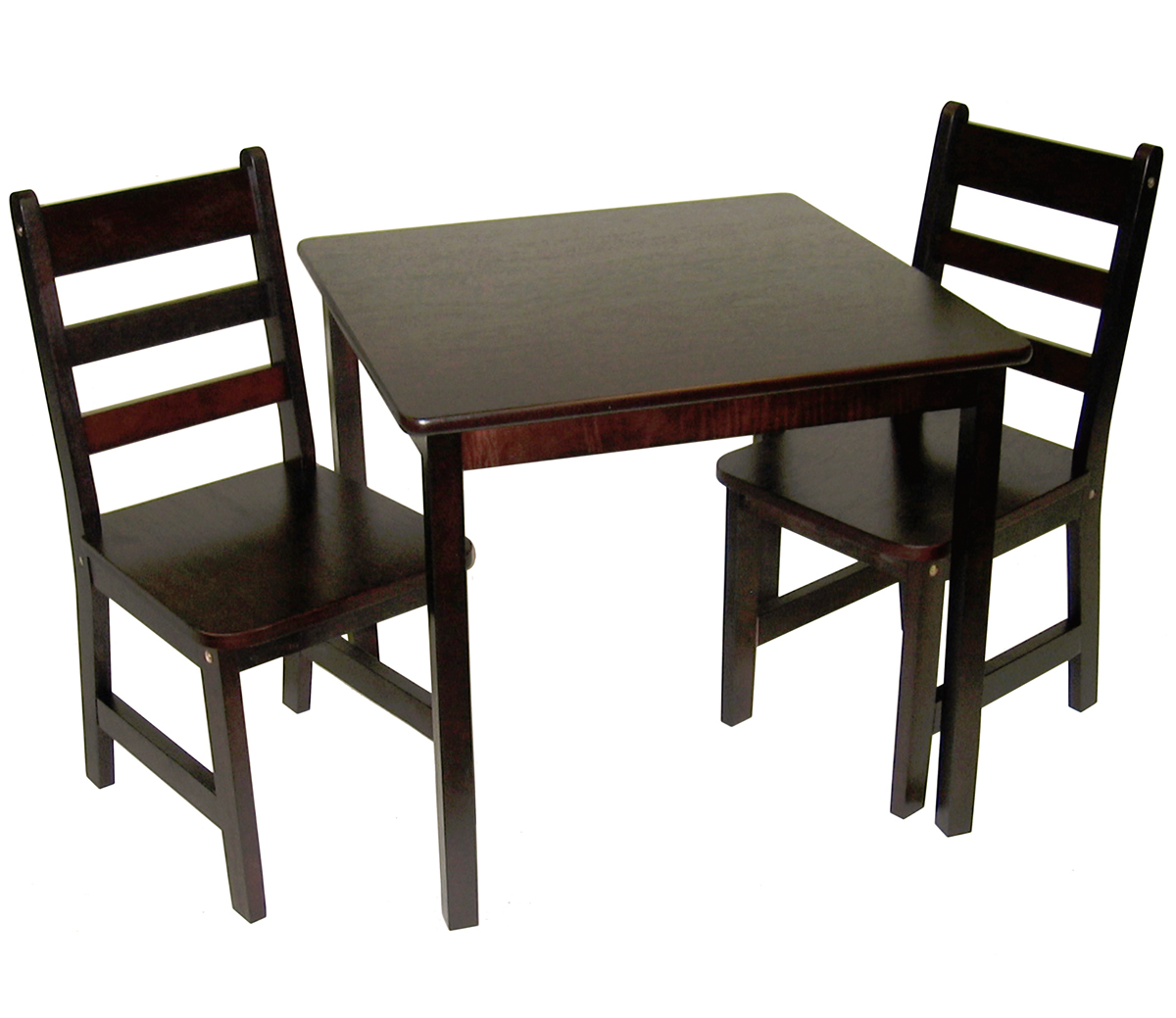 Lipper International Child's Square Table & Chairs, 3-Pie...