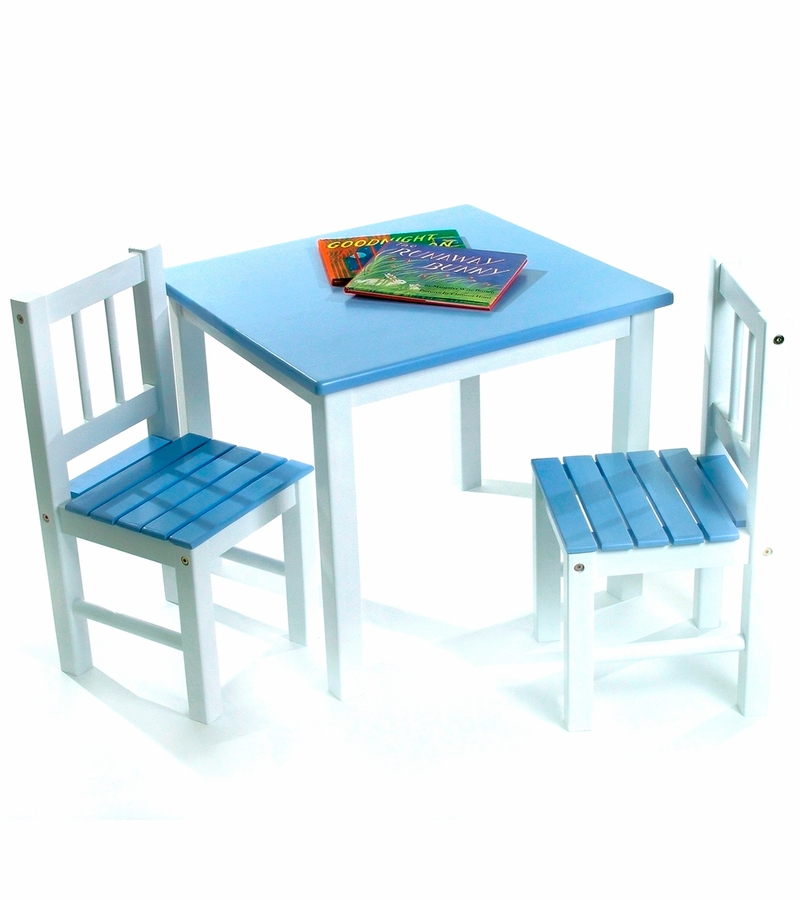 sc 1 st  Albee Baby & Lipper International Kids\u0027 Table \u0026 Chair Set in Blue and White - 513BL