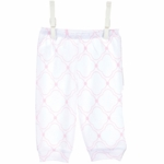 Little Giraffe Cotton Pant with Cuffs in Pink - 3 to 6 Months