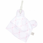 Little Giraffe Link Cotton Cap with Ears in Pink - 0 to 3 Months