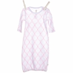 Little Giraffe Link Cotton Gown in Pink - 0 to 6 Months