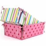 Little Miss Matched Monkey Tie-Side Storage Basket
