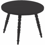 Little Nest Catherine Round Child Table in Black