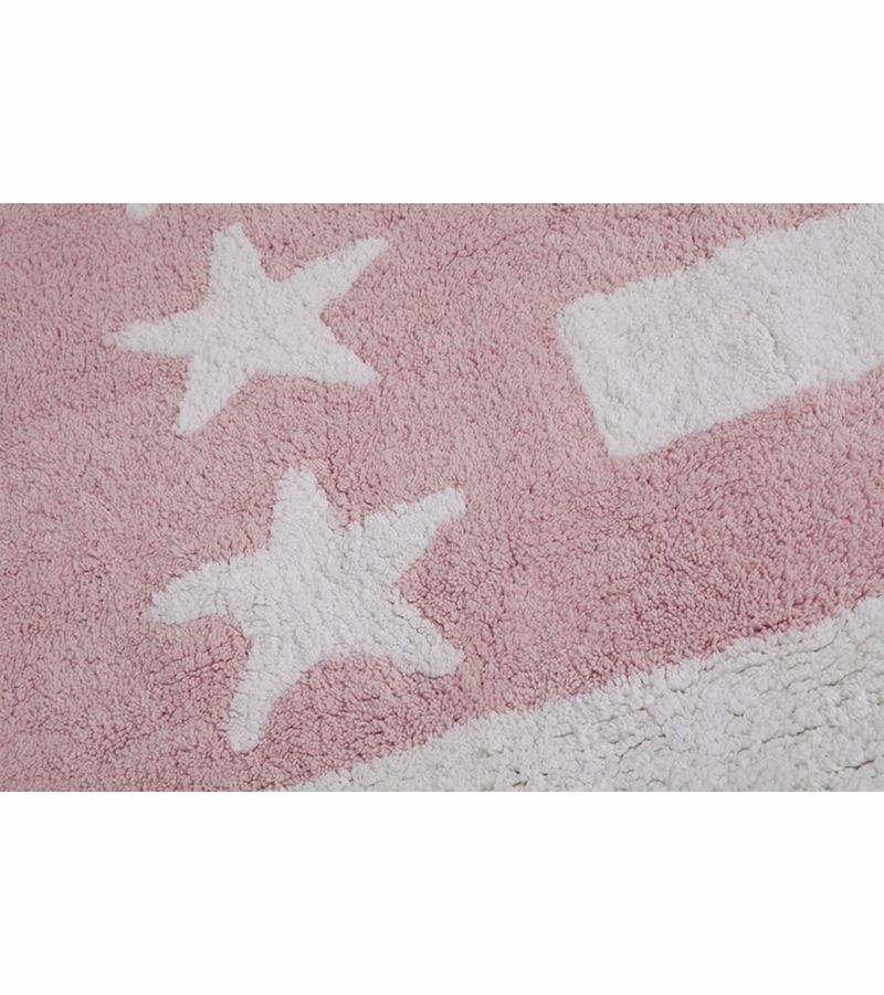 Baby Pink Bathroom Rugs: Lorena Canals Flag Rug, USA