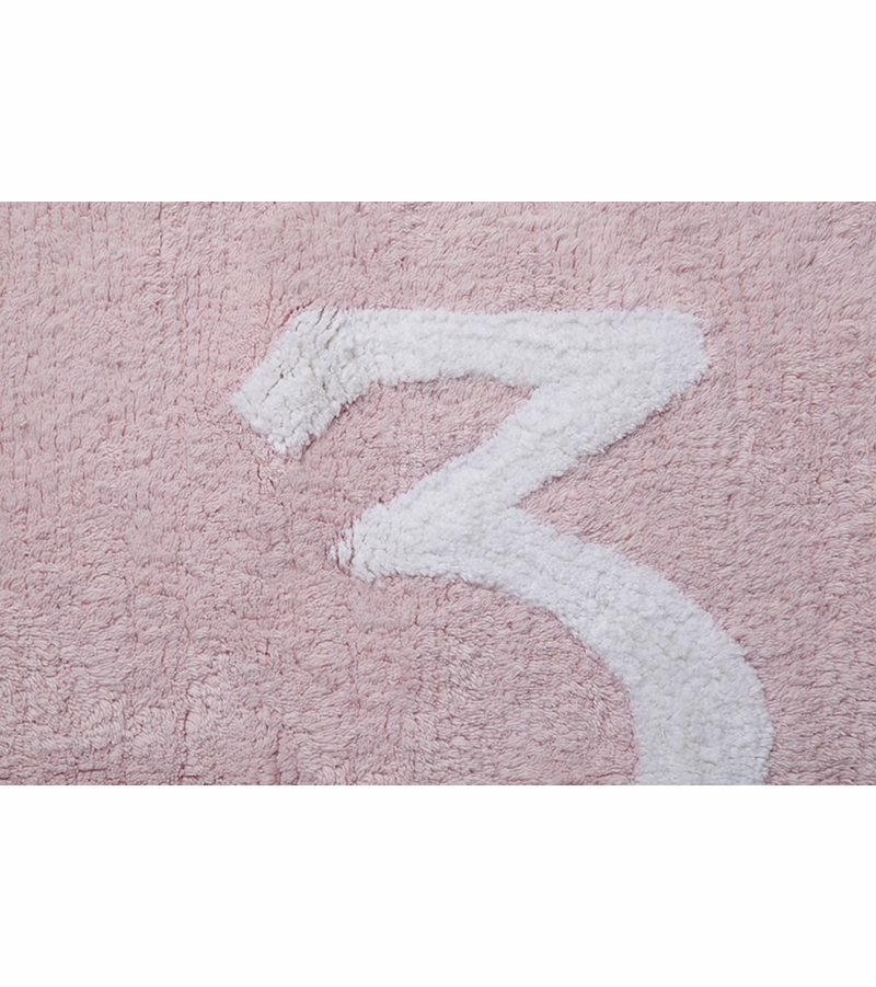 lorena canals numbers rug pink 4 39 x 5 39 3. Black Bedroom Furniture Sets. Home Design Ideas