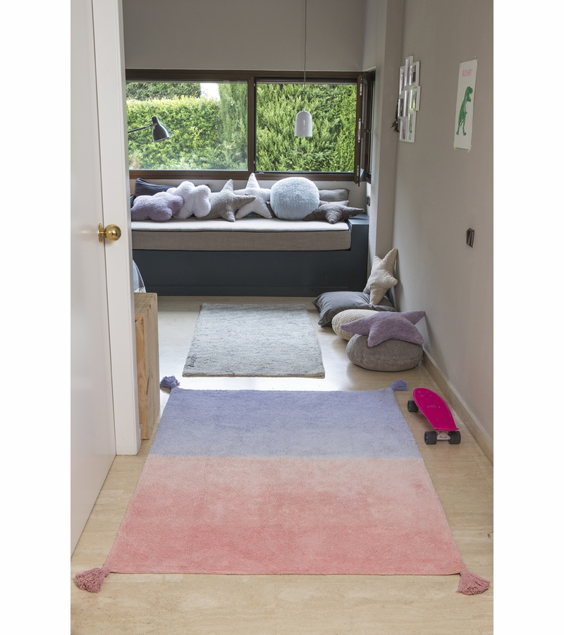 lorena canals ombre rug coral pink lavender 4 39 x 5 39 3. Black Bedroom Furniture Sets. Home Design Ideas