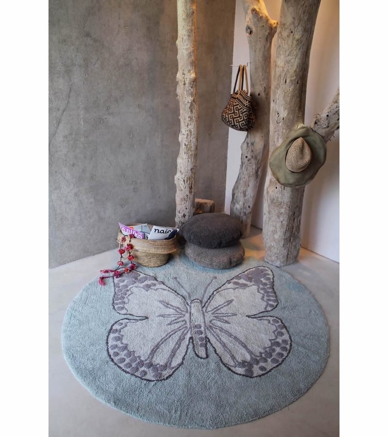 - Lorena Canals Round Rug - Butterfly - Vintage Green (5' 3