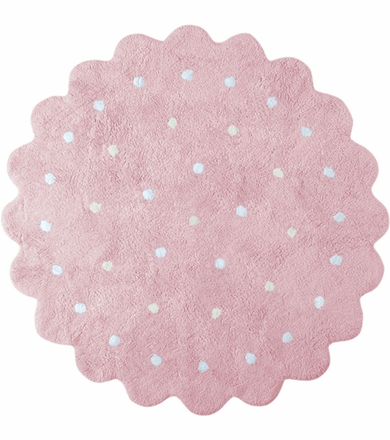 lorena canals round rug little biscuit pink 4 39 8. Black Bedroom Furniture Sets. Home Design Ideas