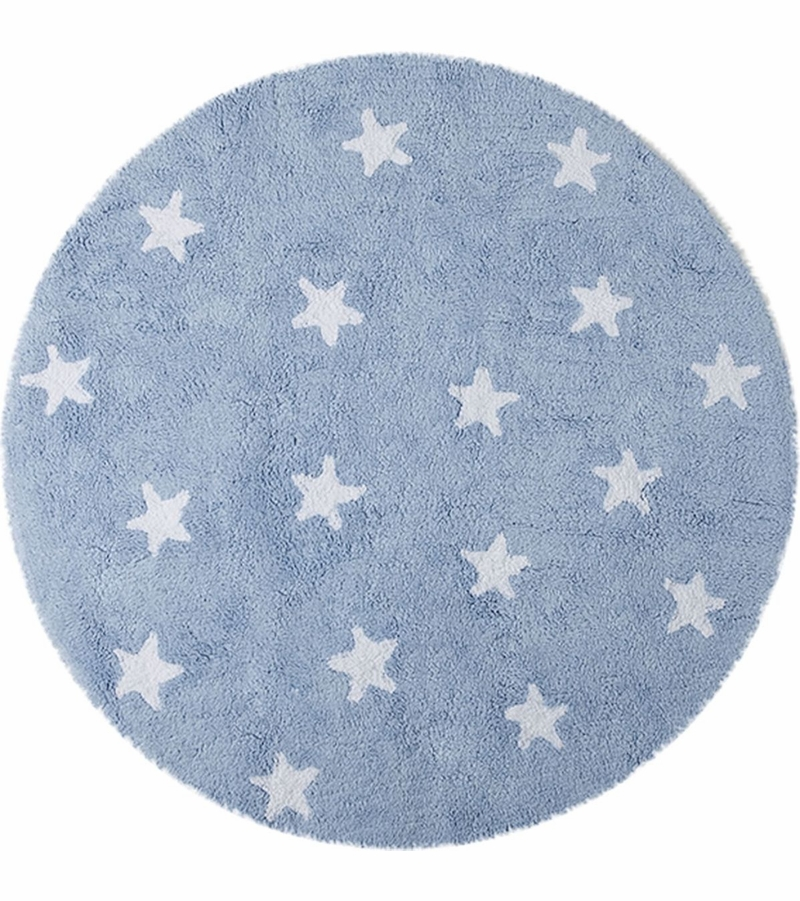 lorena canals round rug sky blue 4 39 8. Black Bedroom Furniture Sets. Home Design Ideas