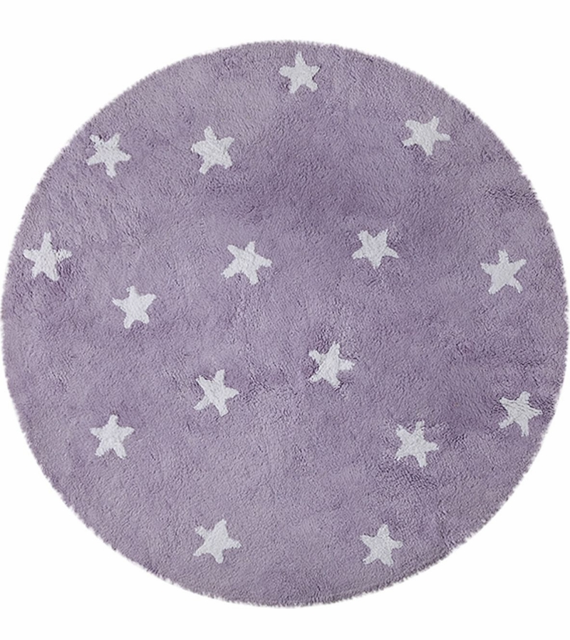 lorena canals round rug sky purple 4 39 8. Black Bedroom Furniture Sets. Home Design Ideas