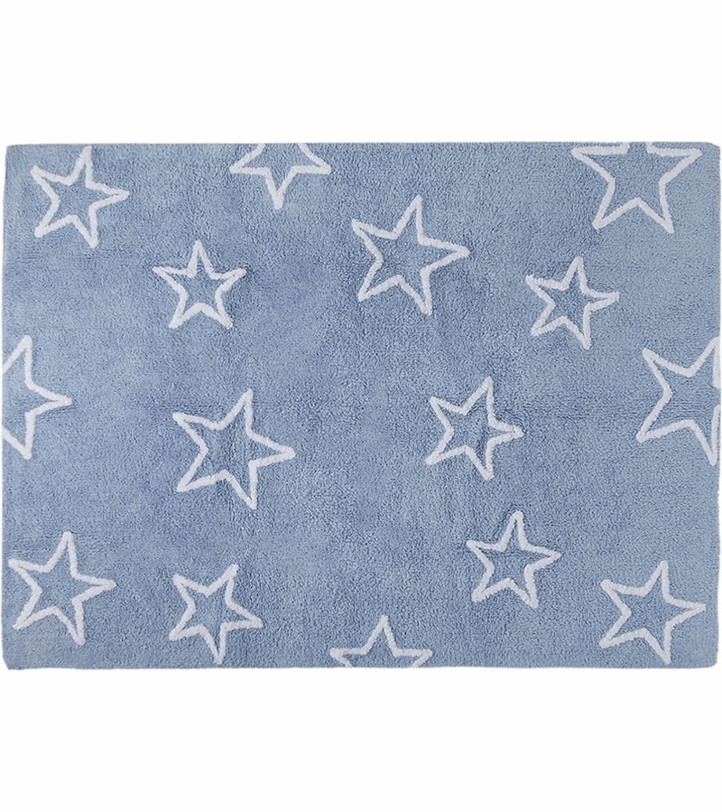 lorena canals silhouette stars rug blue 4 39 x 5 39 3. Black Bedroom Furniture Sets. Home Design Ideas