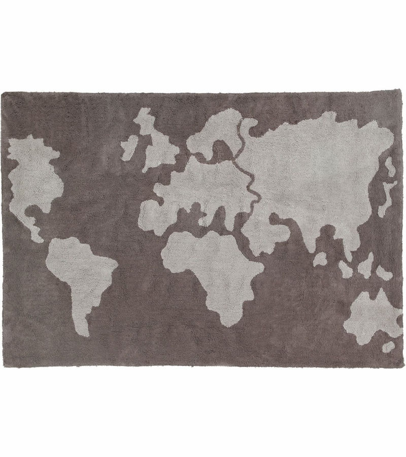 "World Map Baby Rug: Lorena Canals World Map Rug (4' 8"" X 6' 7"""