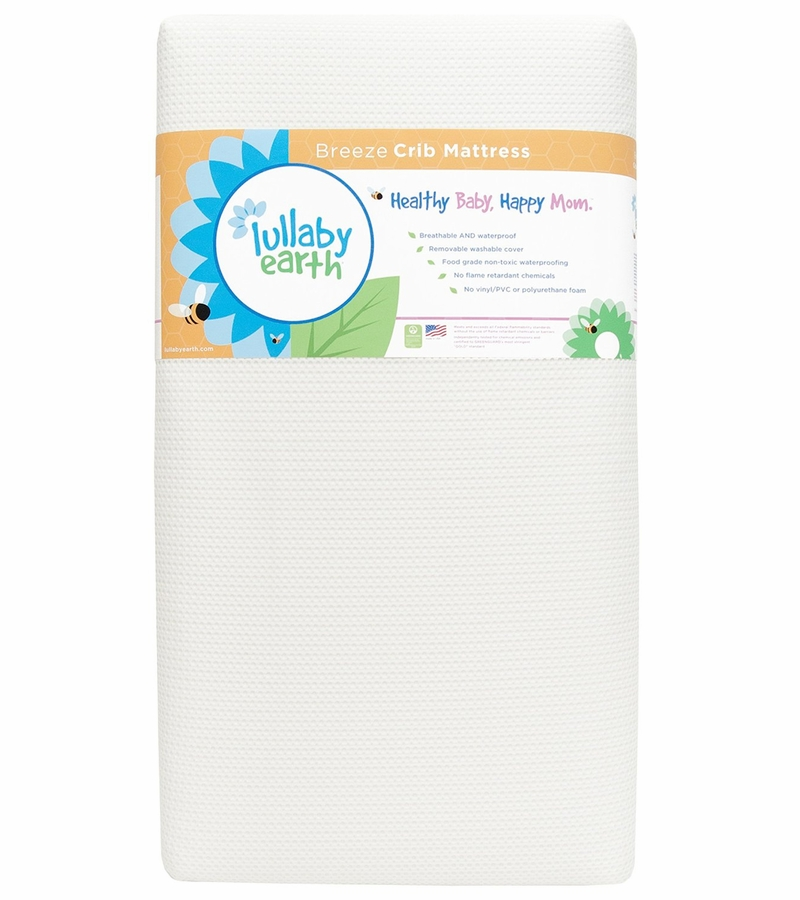 Lullaby Earth Breeze 2 stage Crib Mattress White